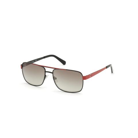 Guess Men's Mirrored Gu6968 GU6968-01Q-58 Black Square Sunglasses