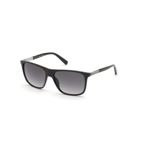Guess Men's Gradient Gu6957 GU6957-01B-58 Black Rectangle Sunglasses