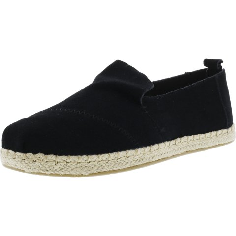 Toms Women's Deconstructed Alpargata Rope Suede Ankle-High Slip-On Shoes