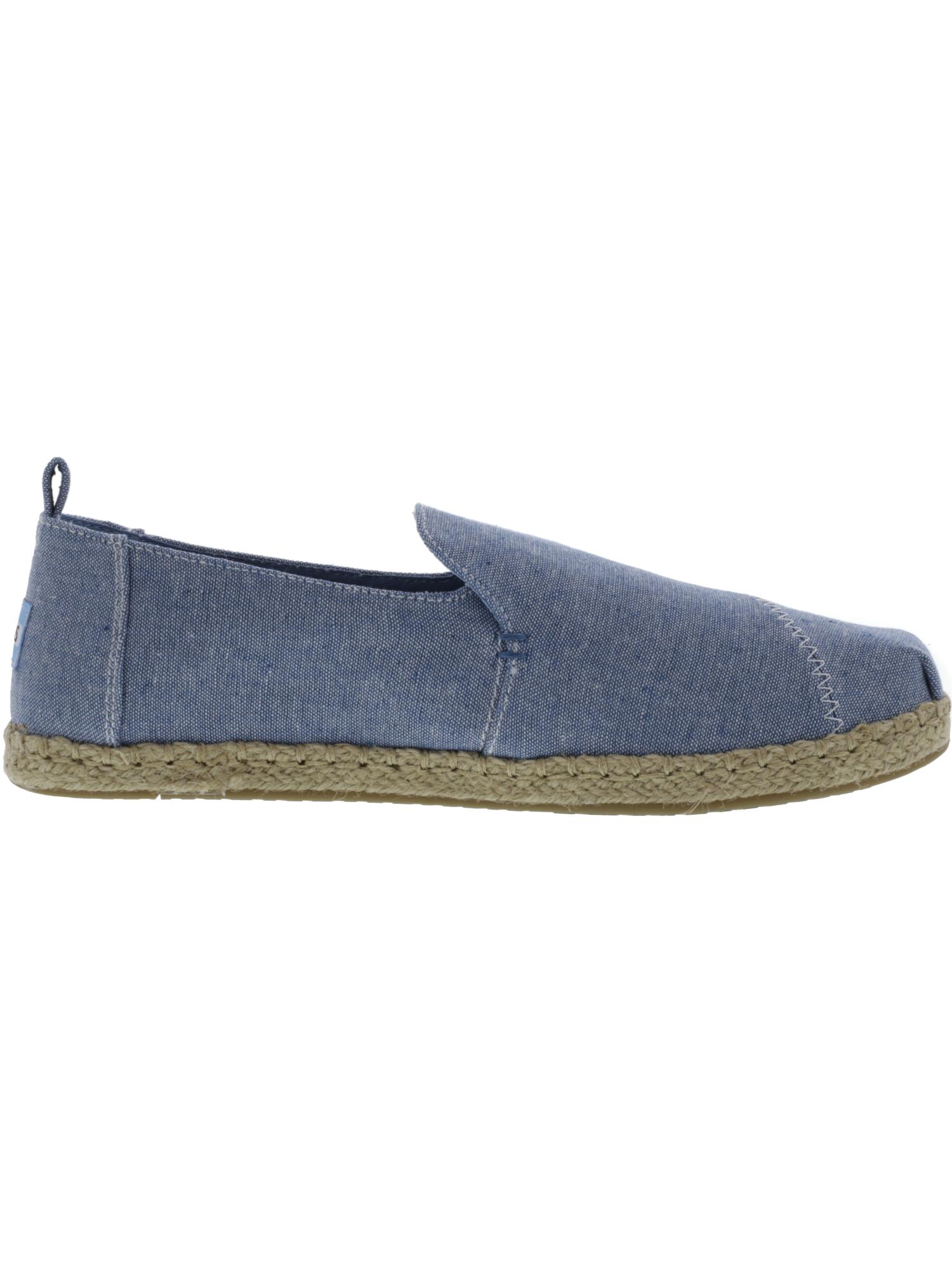 Toms-Women-039-s-Deconstructed-Alpargata-Rope-Slub-Chambray-Canvas-Slip-On-Shoes thumbnail 5