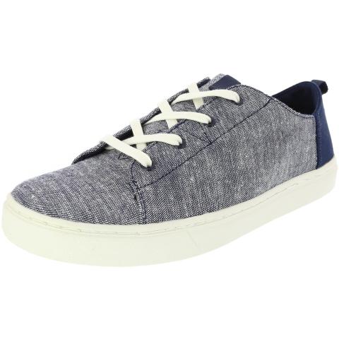 Toms Lenny Slub Chambray Ankle-High Fabric Fashion Sneaker