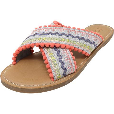 Toms Women's Viv Fringe Fabric Sandal