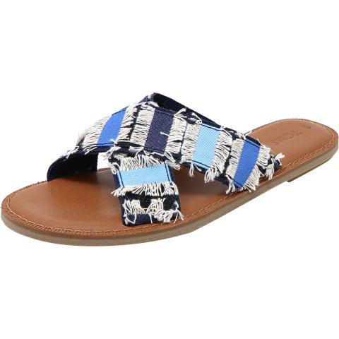 Toms Women's Viv Denim Fabric Sandal