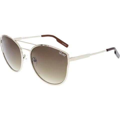Quay Women's Gradient Cherry Bomb QW-000012-GOLD/SLV Gold Butterfly Sunglasses