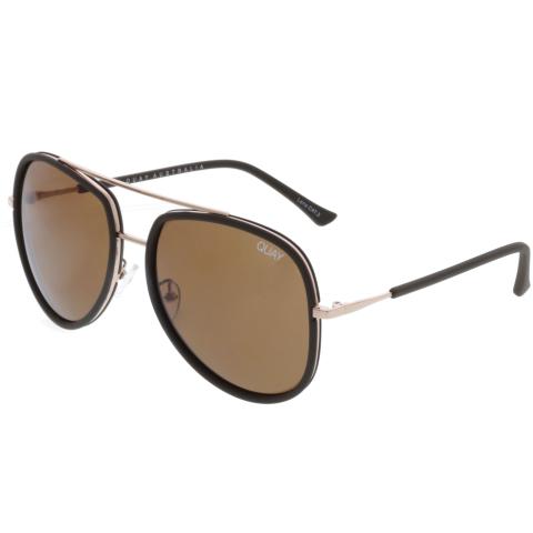 Quay Anti-reflective Needing Fame QU-000152-CHOC/BRN Brown Aviator Sunglasses