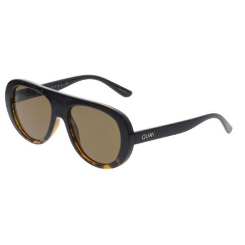 Quay Women's Anti-reflective Bold Move QW-000243-TORTFD/BRN Brown Oval Sunglasses