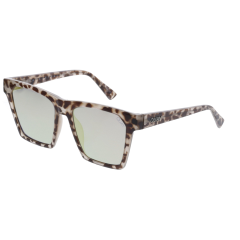 Quay Women's Mirrored Alright QW-000289-TORT/GLD Brown Square Sunglasses
