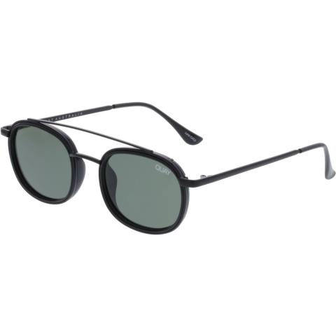 Quay Men's Polarized Got It Covered QM-000307-BLK/GRN Black Oval Sunglasses