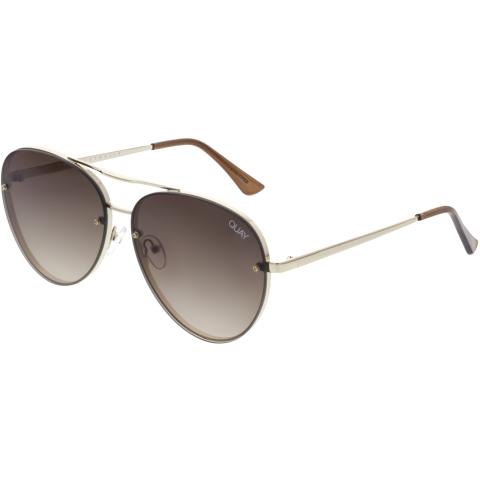 Quay Women's Gradient Cool Innit QW-000312-GLD/BRN Brown Aviator Sunglasses