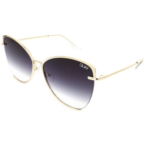 Quay Women's Gradient Dusk To Dawn QW-000412-GLD/SMK Gold Butterfly Sunglasses